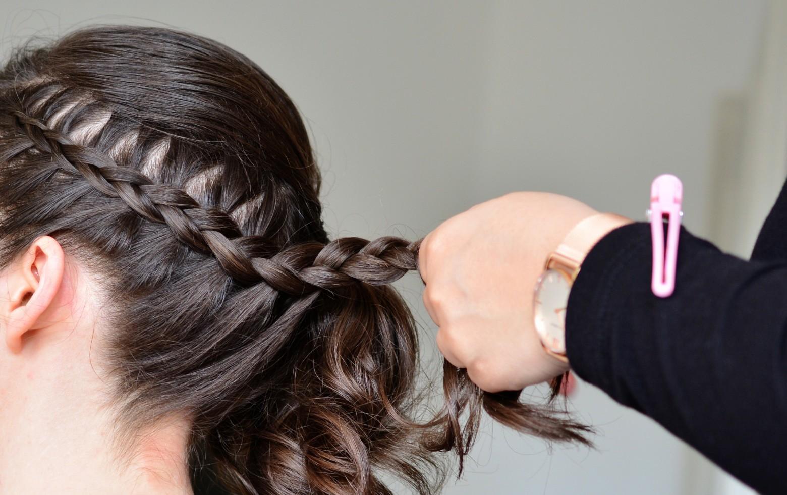 Idee coiffure tresse tendance pour mariage, mariée, ceremonie